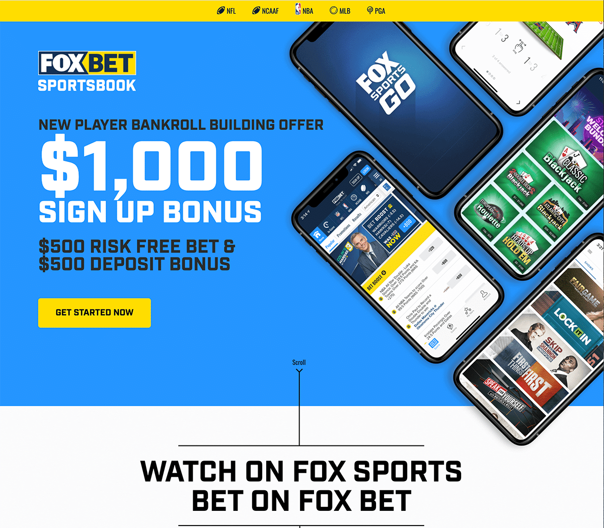 Fox Bet Homepage