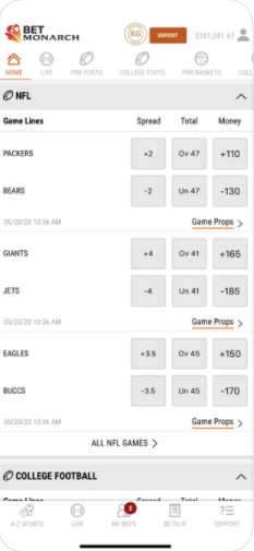 BetMonarch NFL Sports Betting