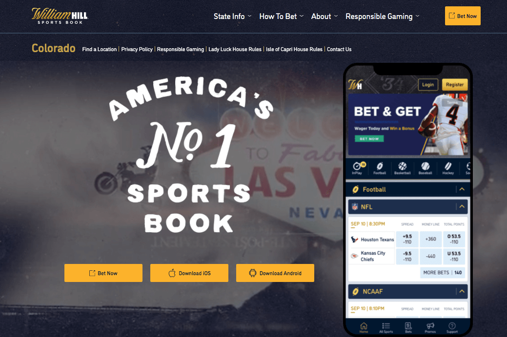 William Hill Sportsbook Main Page