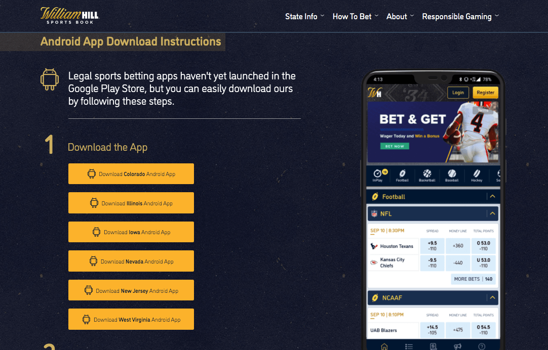 William Hill Android App Download
